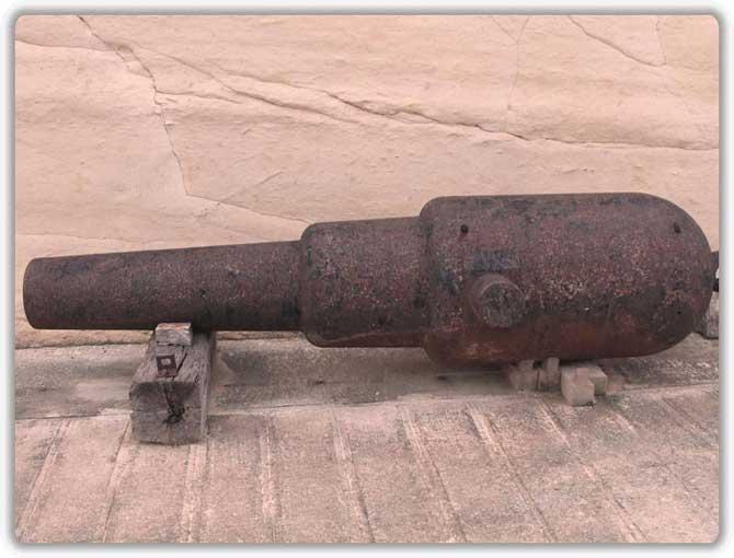 В форте более 40 орудий «поменьше»
