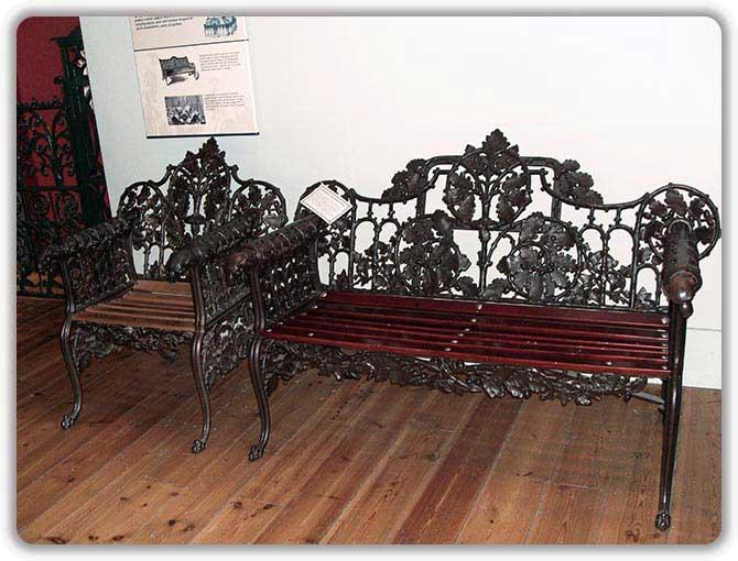 Чугунная мебель для Первой Всемирной промышленной выставки 1851 г. в Лондоне