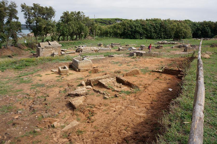 Раскопки этрусского некрополя