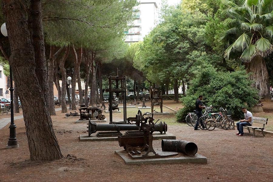 Парк на территории бывшего литейного заода
