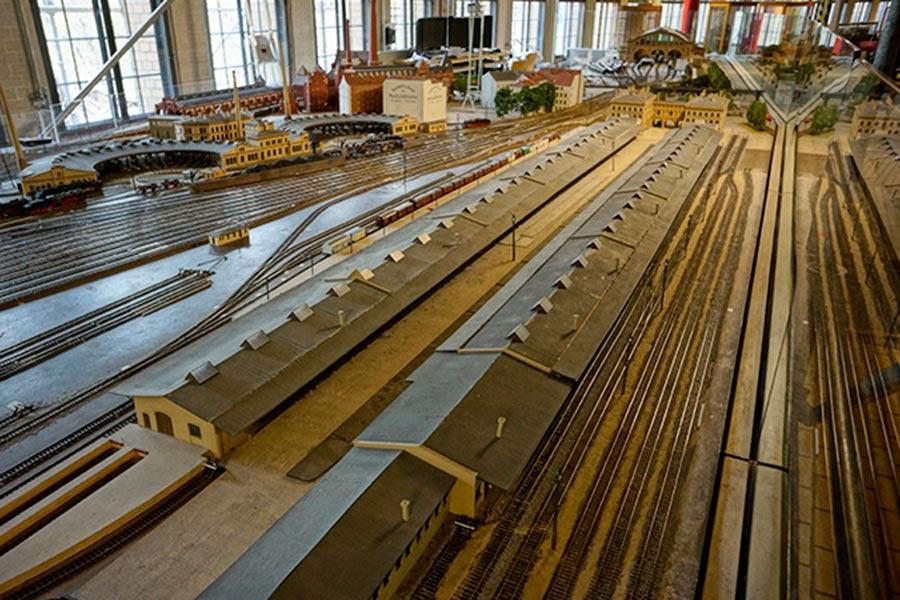 Действующий макет депо железнодорожной станции Anhalter Güterbahnhof