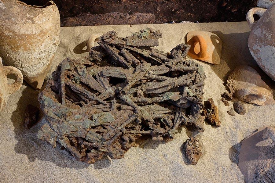 Бронзовый металлолом, подготовленный к переплавке