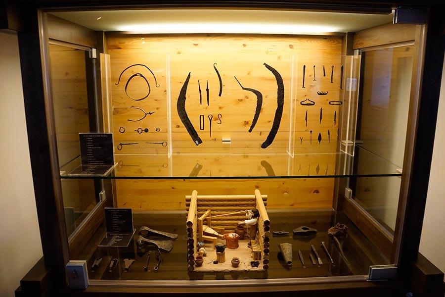 Экспозиция древнерусских железных изделий