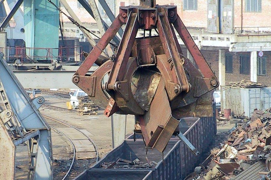 Отгрузки металлолома железнодорожным транспортом в 2016 г.