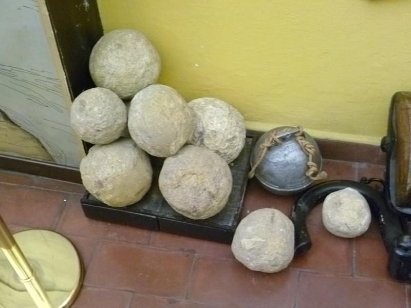 Каменные ядра.