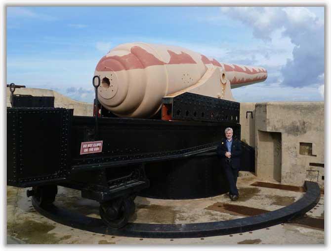 100-тонное орудие Армстронга 1882 г.