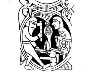 Гусиные стальные опилки и «римская плетёнка»