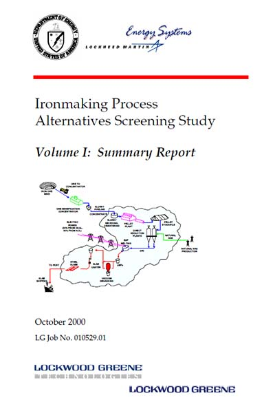 Ironmaking Process Alternatives Screening Study