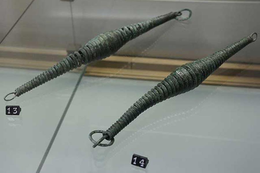 Этрусские бронзовые наконечники для копий