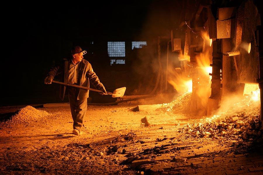 Мартеновское производство на ижевском сталеделательном заводе